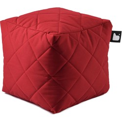 Extreme Lounging poef b-box Outdoor ruit - Rood