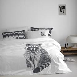 Damai Dekbedovertrek Raccoon - wit 240x200/220cm