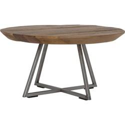 Salontafel Ø60x30 cm CAYON zwart met hout