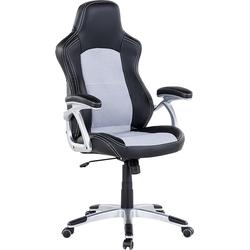 Burostoel zwart-grijs - bureaustoel - gamestoel - chefstoel - EXPLORER