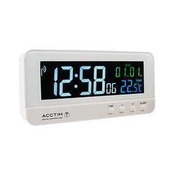 Acctim Radio Controlled LCD Alarm Clock, White