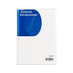 Filofax White Ruled Paper, A5