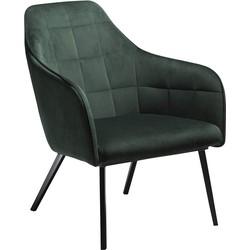 Dan-Form Embrace Loungefauteuil - Groen Fluweel