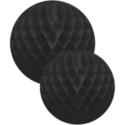 Delight Department  Honeycomb Ballen Set - Zwart | 2 stuks