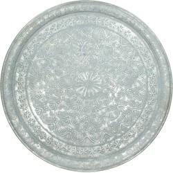 Plate Metal Silver 69cm