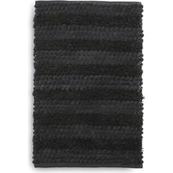 Badmat Roberto 60x100 cm dark grey - 60% Katoen 40% Polyester