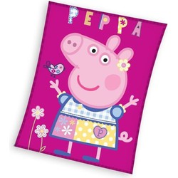 Fleece Deken Peppa Pig 110x140 Fleece Dekens