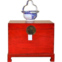 Fine Asianliving [PREORDER WEEK48] Antique Chinese Storage Chest Hand Painted Lucky Red