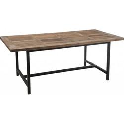 Industry - Eettafel - rechthoekig - hout - metalen frame - 200x100cm