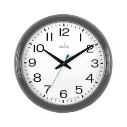 Acctim Penford Wall Clock, Dia.38cm, Grey