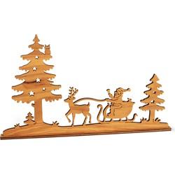 Kersttafereel Hout Silhouet - Waldfabrik