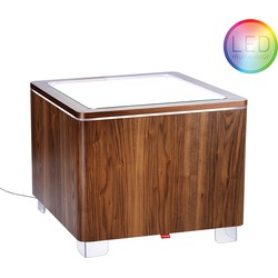 Moree Ora LED Salontafel 60x60x45 - Walnoot