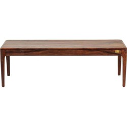 Kare Design Bank Brooklyn Walnut - L140 X B40 X H45 Cm - Sheesham Hout