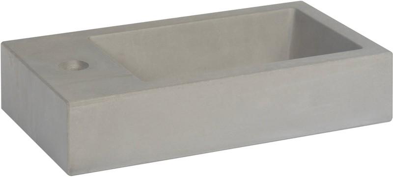 Ben Titan Fontein 40x22,5 cm kraangat links Beton Grijs -