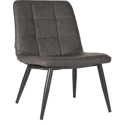 Lounge chair James by LABEL51 is a sturdy, sleek Lounge chair with a large block stitching. James is made of PU fabric and has a pleasant seating comfort. <br>