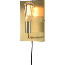 Wandlamp ijzer Madrid goud, L