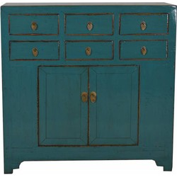 Fine Asianliving Chinees Dressoir Teal 6 Lades - Shandong, China