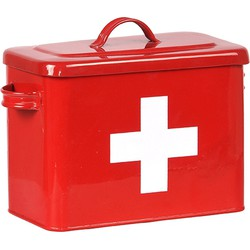 LABEL51 - Ehbo Box 30x14x21 cm - Industrieel - Rood hoogglans