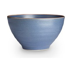 Linea Rye Blue Stoneware Cereal Bowl Set of 4, Blue