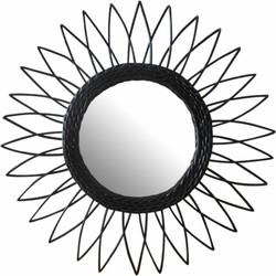 Spiegel Juul - rotan - zwart - 50 cm