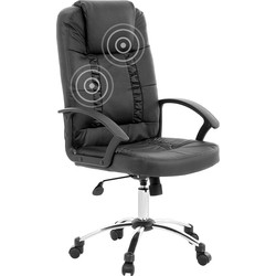 Bureaustoel met massagefunctie - massagefauteuil - zwart - RELAX