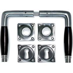 Deurklink - Deco mat nikkel, set (inc. sleutel rozetten)
