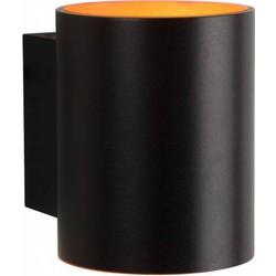 Wandlamp Xera Zwart Goud Rond