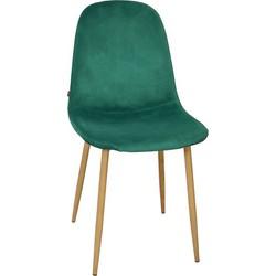 Stockholm stoel - velvet groen - set van 4