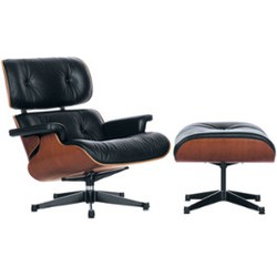 Vitra Eames Lounge chair met Ottoman loungestoel (nieuwe afmetingen)