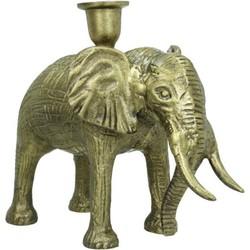 Kersten kandelaar olifant brons 20x10x26cm