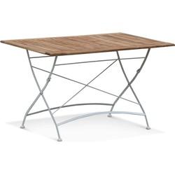 Lanterfant® Tuintafel Eva - Stalen frame - Hardhouten tafelblad