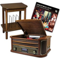 Soundmaster NR545DAB Platenspeler + Kerst LP + SF510 Meubel