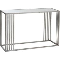 Silver - Sidetable - rechthoekig - glazen blad - zilverkleurig - metalen frame