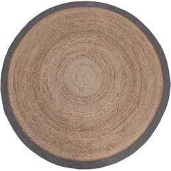 LABEL51 - Vloerkleed Jute 180x180 cm L  - Design - Grijs
