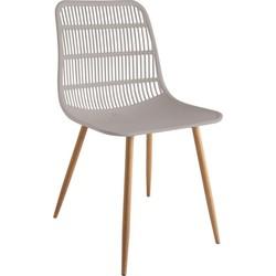 Tamy - Set van 4 stoelen - Taupe