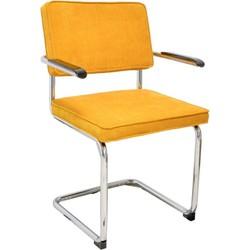 Set van 4 stoelen - Rob - mosterd geel - met armleuning