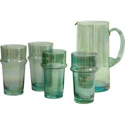 Traditioneel glas geschilderd groen M, L, XL, XXL - (M) medium