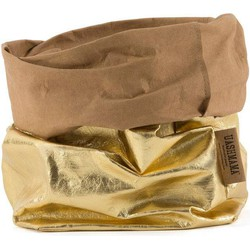 UASHMAMA® Paper Bag Goud & Naturel