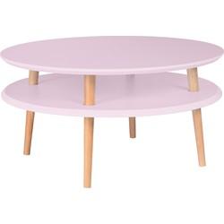 Salontafel UFO70cm diameter roze