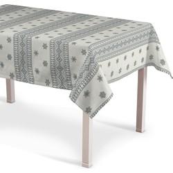 Rechthoekig tafelkleed ecru - grijs
