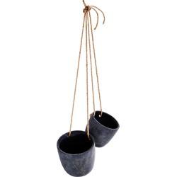Madam Stoltz Hangende potten Cement 17 x 16