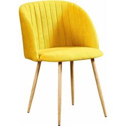 Flow stoel - geel - set van 2