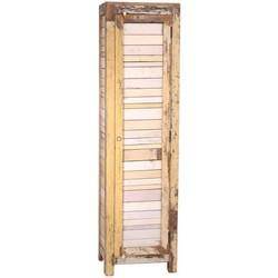 PTMD Gunter Wood Cream Single Door Cabinet