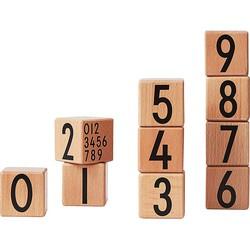 Design Letters Houten Blokken - 0-9