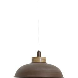 Hanglamp ALETTA - Oud Bruin Met Houten Kop