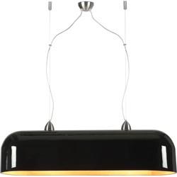 Hanglamp Halong bamboe ovaal, zwart