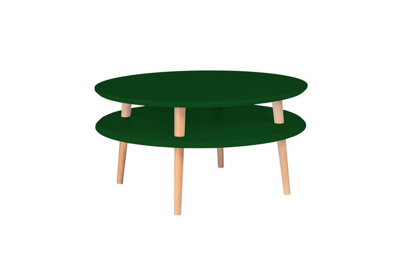 Salontafel UFO flesgroen diameter 70cm -