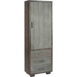 Industry grey - Opbergkast - grijs - hout - 1 deur - 3 laden