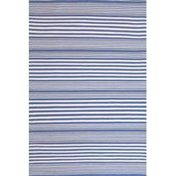Buitenkleed Dash & Albert Rugby Stripe denim - 259 x 335 cm