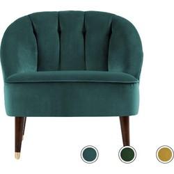 Margot fauteuil, pauwblauw fluweel